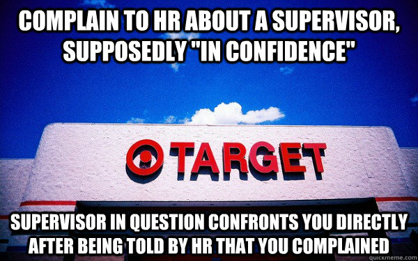 complain to hr about a supervisor, supposedly