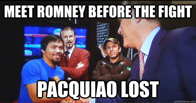 Meet romney before the fight pacquiao lost - Meet romney before the fight pacquiao lost  Why Pacquiao lost the fight.