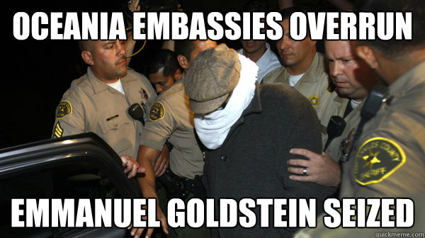 Oceania Embassies Overrun Emmanuel Goldstein Seized  Defend the Constitution