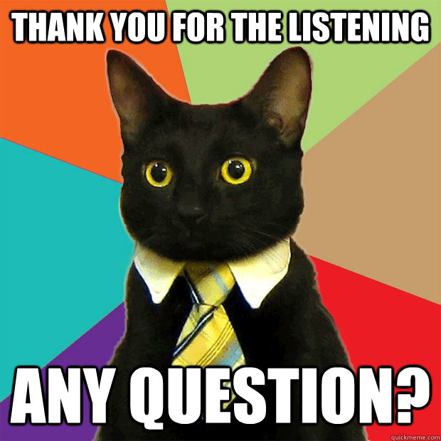 Thank you for the listening Any question? - Business Cat ...