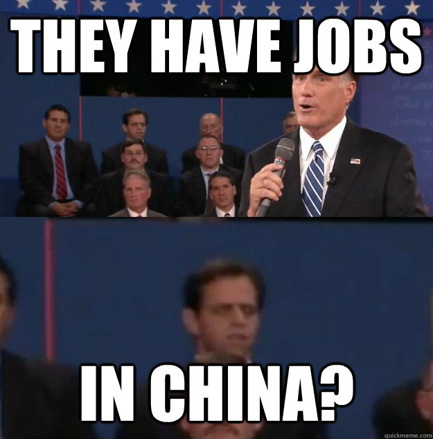 They HAve Jobs IN CHina?