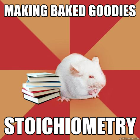 making baked goodies stoichiometry - making baked goodies stoichiometry  Science Major Mouse