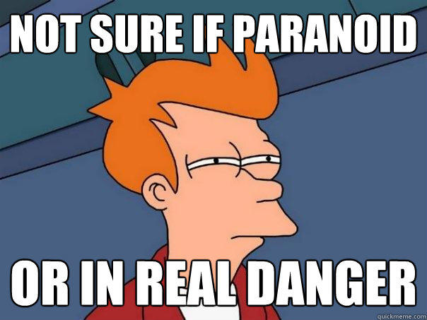Not sure if paranoid or in real danger - Not sure if paranoid or in real danger  Futurama Fry