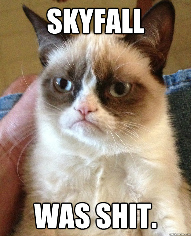 Skyfall was shit. - Skyfall was shit.  Grumpy Cat