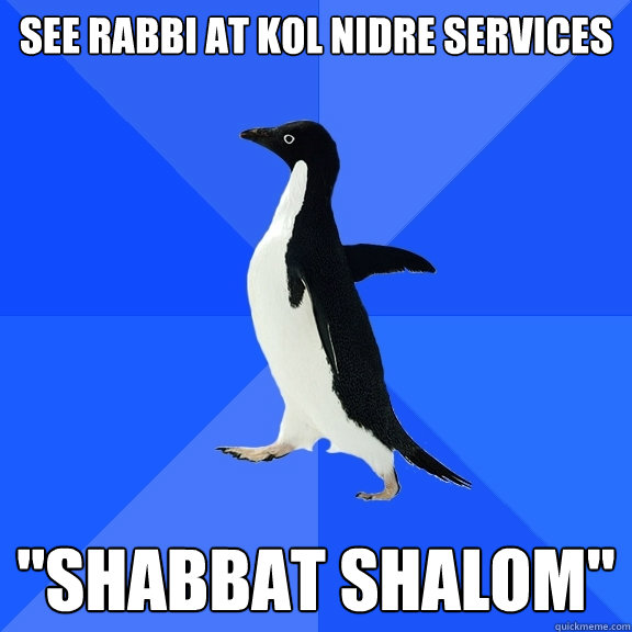 see rabbi at kol nidre services