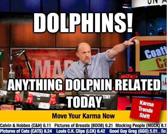 Dolphins! anything dolpnin related today - Dolphins! anything dolpnin related today  Mad Karma with Jim Cramer
