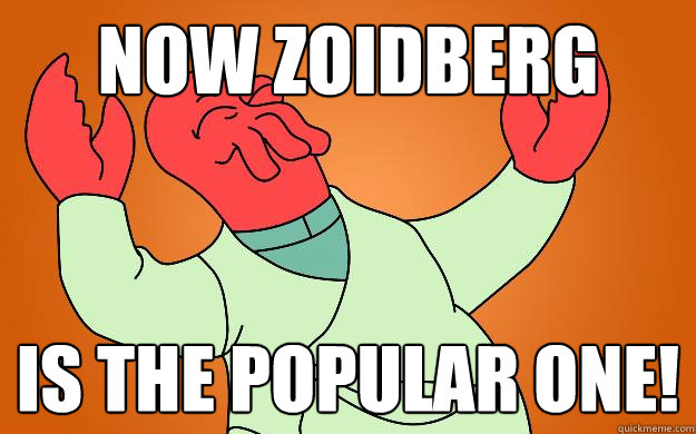 now zoidberg is the popular one!