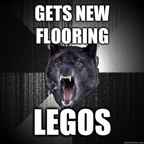 Gets new flooring Legos - Gets new flooring Legos  Insanity Wolf