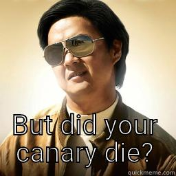 BUT DID YOUR CANARY DIE? Mr Chow