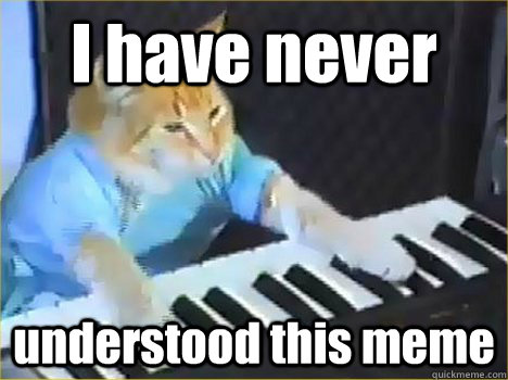 I have never understood this meme - I have never understood this meme  Keyboard Cat