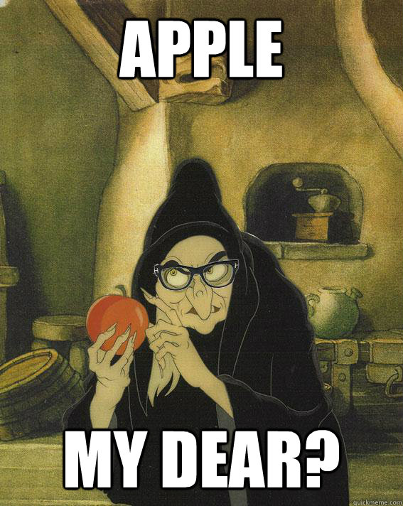 Apple my dear?  Hipster Snow White Witch