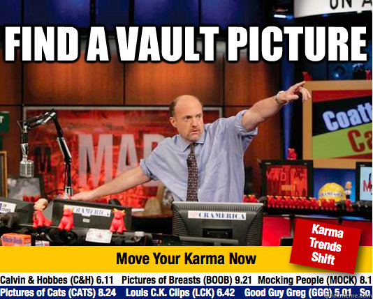 Find a vault picture  - Find a vault picture   Mad Karma with Jim Cramer