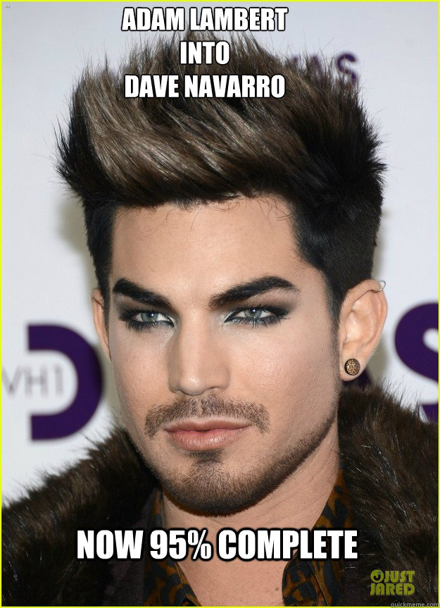 adam lambert into dave navarro now 95  complete