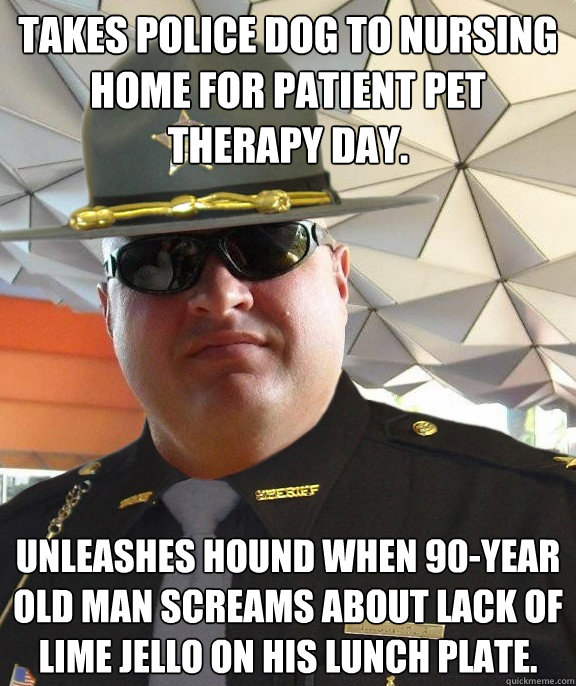 Takes Police Dog To Nursing Home For Patient Pet Therapy