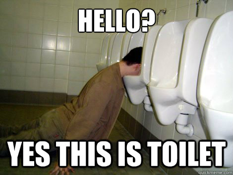 on toilet Drunk