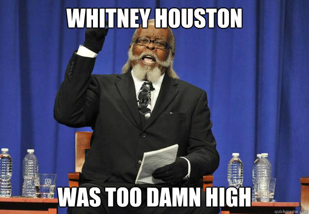 Whitney Houston was too damn high