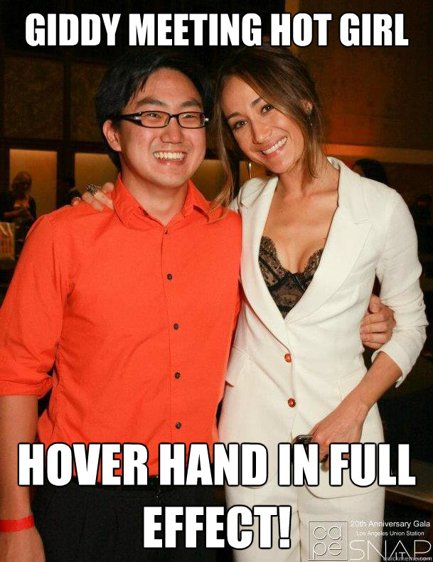 Giddy Meeting Hot Girl HOVER HAND IN FULL EFFECT! - Giddy Meeting Hot Girl HOVER HAND IN FULL EFFECT!  Awkward Asian