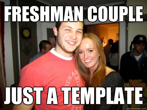 Freshman Couple Just a template  Freshman Couple