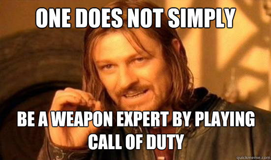 One Does Not Simply BE A WEAPON EXPERT BY PLAYING CALL OF DUTY - One Does Not Simply BE A WEAPON EXPERT BY PLAYING CALL OF DUTY  Boromir
