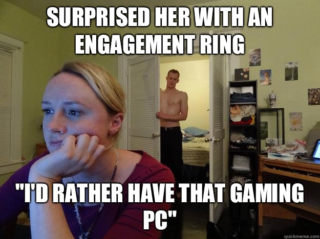 Surprised her with an engagement ring