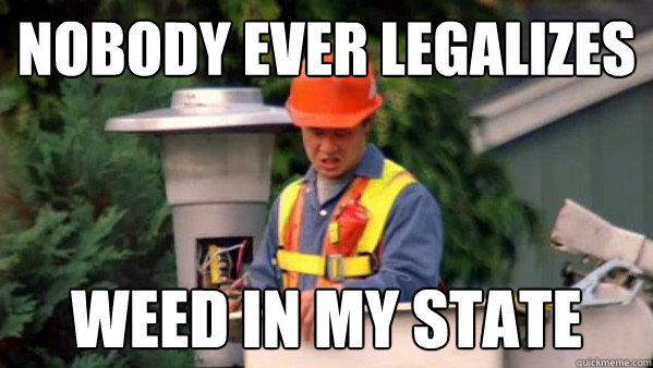 Nobody ever legalizes  weed in my state - Nobody ever legalizes  weed in my state  Nobody Ever Pays Me