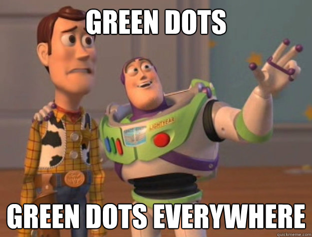 Green Dots Green dots everywhere