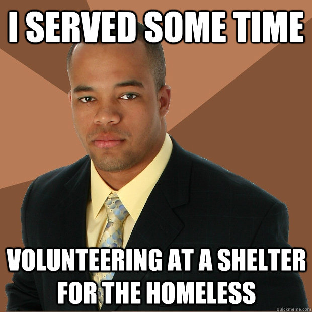 volunteering at a homeless shelter essay