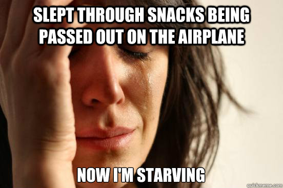35bc2c66b094c8c9b3487c90e3848026fe9f3b70c126ea7f5f28617669edada0 slept through snacks being passed out on the airplane now i'm,Funny Meme Airplane Snack