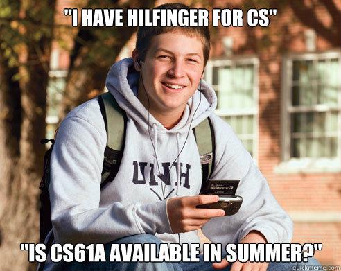 I have Hilfinger for CS