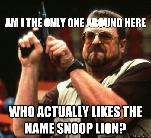 Am I The Only One Around Here Who actually likes the name snoop lion?  -  Am I The Only One Around Here Who actually likes the name snoop lion?   Am I The Only One Around Here