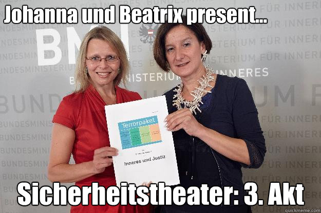 Johanna und Beatrix present... Sicherheitstheater: 3. Akt - Johanna und Beatrix present... Sicherheitstheater: 3. Akt  Misc
