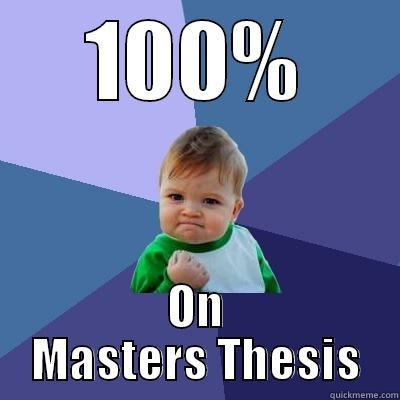 Success thesis