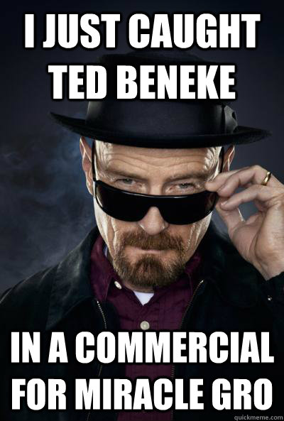 i just caught ted beneke in a commercial for miracle gro