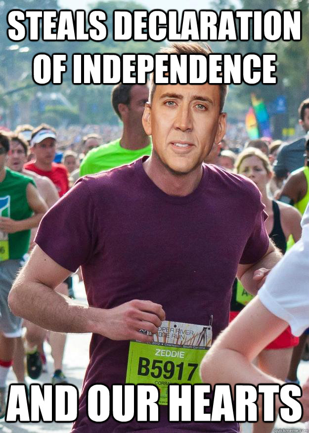 Steals declaration of independence and our hearts - Steals declaration of independence and our hearts  Ridiculously Photogenic Cage