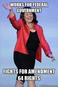 works for federal government fights for amendment 64 rights - works for federal government fights for amendment 64 rights  Good Guy DeGette