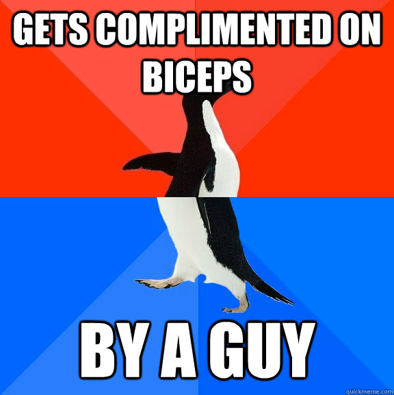 Gets complimented on biceps by a guy - Gets complimented on biceps by a guy  Misc