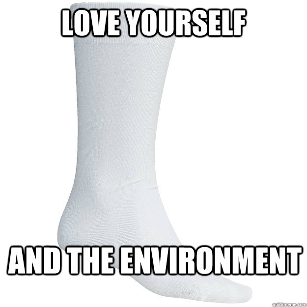 Love Yourself And the environment - Love Yourself And the environment  Tube Socks