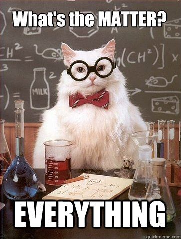 What's the MATTER? EVERYTHING - What's the MATTER? EVERYTHING  Chemistry Cat