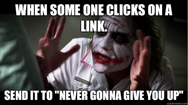 When some one clicks on a link. Send it to