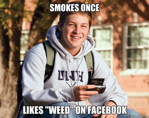 smokes once likes