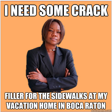 I need some crack filler for the sidewalks at my vacation home in Boca Raton