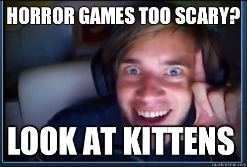 Horror games too scary? Look at kittens