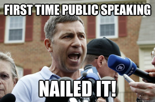 first time public speaking nailed it! - first time public speaking nailed it!  Uncle Ruslan