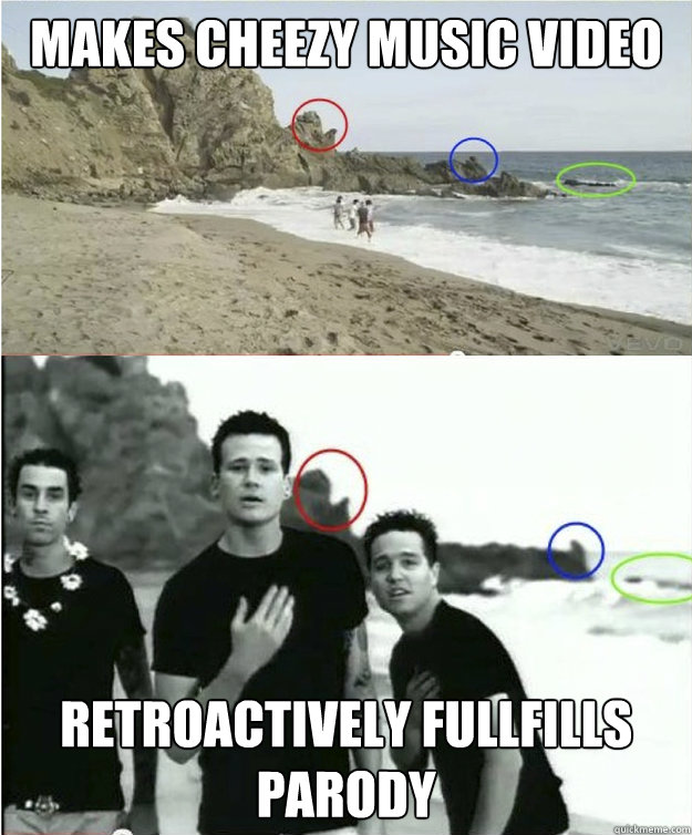 Music video retroactively fullfills parody good guy one direction