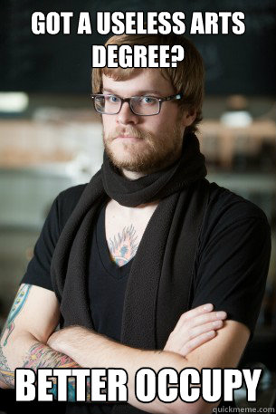 Got a useless arts degree? better occupy  Hipster Barista