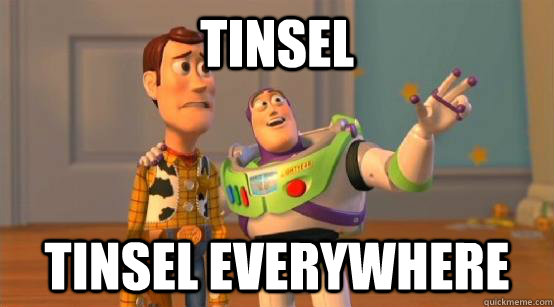 Tinsel tinsel Everywhere - Tinsel tinsel Everywhere  Buzz Glitter