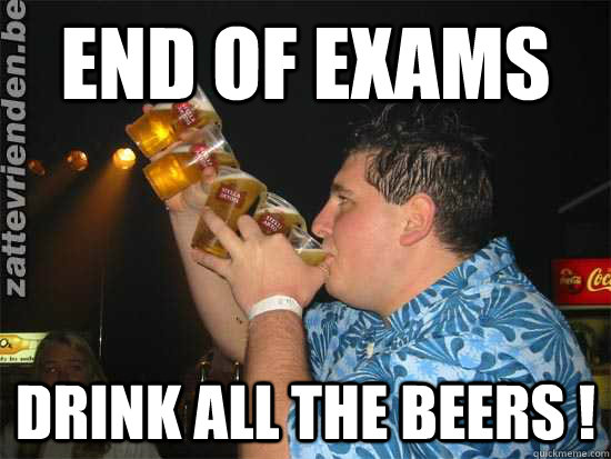 37a0b6fb5ed42b797ec44eab115c67c187931ea64e716117309b4a5072d1da5f end of exams drink all the beers ! stella artois quickmeme