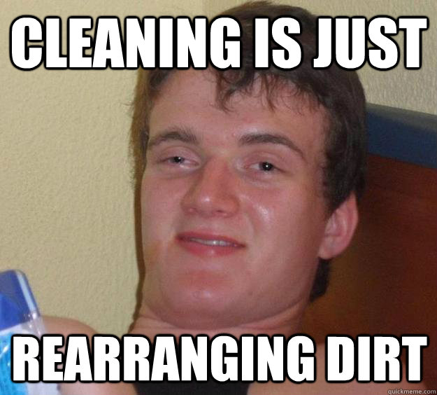 Cleaning is Just Rearranging Dirt - Cleaning is Just Rearranging Dirt  10 Guy