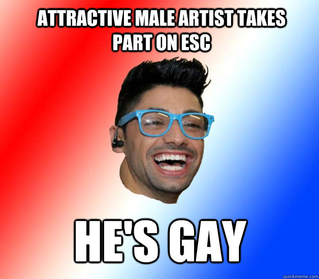 Attractive male artist takes part on ESC He's gay