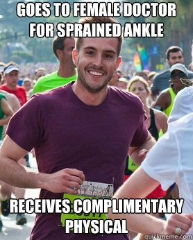 goes to female doctor for sprained ankle receives complimentary physical - goes to female doctor for sprained ankle receives complimentary physical  Ridiculously photogenic guy